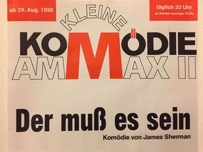 text reading Komodie Am Max II Der Muss es sein